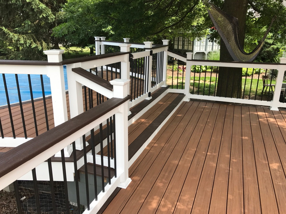 Deck Stairways And Railings And Built In Seating